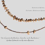 Halsketten mit Muskatnuss-Splittern