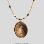 Muskatnuss-Kette Gold & Silber