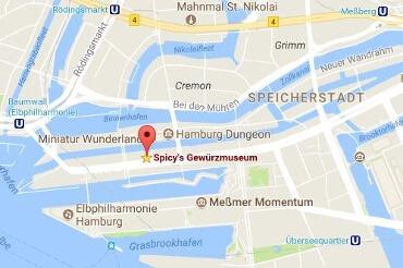Standort des Gewürzmuseums in der Speicherstadt