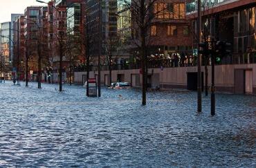 Sturmtief Herwart wütet in der Hafencity