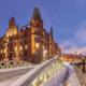Winterdämmerung Speicherstadt