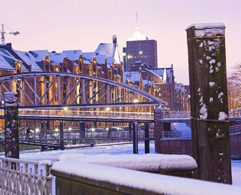 Winterliche Speicherstadt